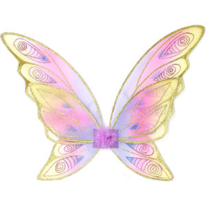 Glitter Rainbow Wings (multi Pastel Gold, OS