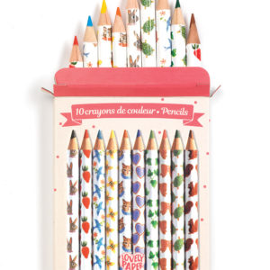 Pencils 10 Aiko Mini Colored Pencils