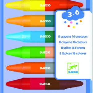 Art Supplies 8 Twin Crayons