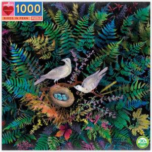 Birds in Fern 1000 Piece Puzzle