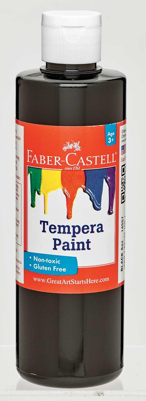 Black Tempera Paint (8 oz bottles)