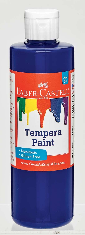 Blue Tempera Paint (8 oz bottles)