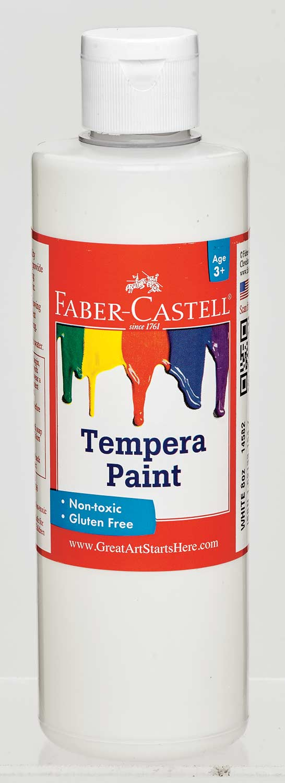 White Tempera Paint (8 oz bottles)