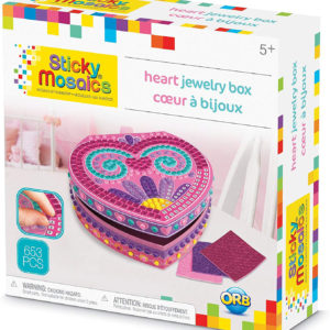 Sticky Mosaics Heart Jewelry Box