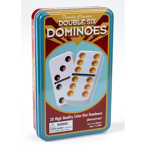 Double Six Dominoes In Tin