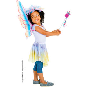 Great Pretenders Glitter Rainbow Wings - Hot Pink