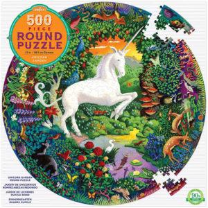 Unicorn Garden - 500 Piece Round Puzzle