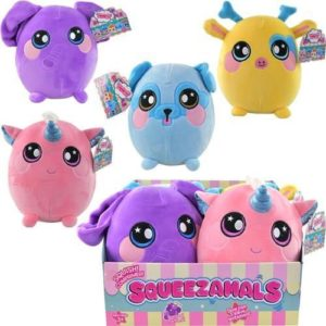 "Squeezamals Plush Asst 1 9.5"" 4 PDQ Series 2"